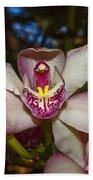 Cymbidium Orchid Bath Towel