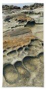 Eroded Sandstone Cliff Along The Ocean Bath Towel