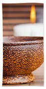 Exotic Bowl And Candles Bath Towel