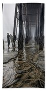 Fog At The Pier Hand Towel