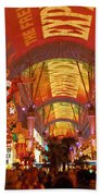 Fremont Street Experience Las Vegas Nv Bath Towel