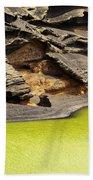 Green Lagoon On Lanzarote Bath Towel