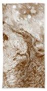 Howling Gray Wolf Bath Towel