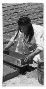 Indians Making Adobe Bricks Bath Towel