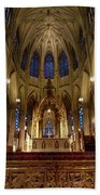 Inside St Patricks Cathedral New York City Bath Towel