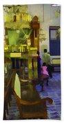 Inside The Historic Jewish Synagogue In Cochin Bath Towel