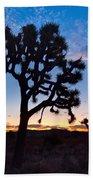 Josua Trees Beautifully Lit During Sunrise In Joshua Tree Nation Bath Towel
