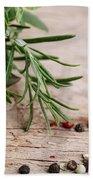 Kitchen Herbs Bath Towel