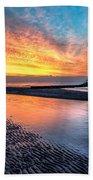 Lighthouse Sunset Bath Towel