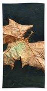 Maple Leaf Bath Towel