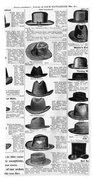 Men's Hats, 1895 Bath Towel
