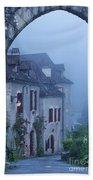 Misty Dawn In Saint Cirq Lapopie Bath Towel