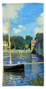 Monet's The Bridge At Argenteuil Bath Towel