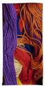 Multicolored Embroidery Thread Mixed Up  Bath Towel