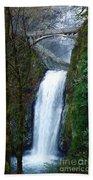 Multnomah Falls Bridge Bath Towel