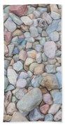 Natural Rock Pebble Backgorund Bath Towel