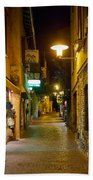 Night. Sirmione. Lago Di Garda Bath Towel