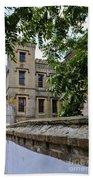Peek Through The Tree's Of Old City Jail Bath Towel