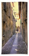 Old Colorful Stone Alley Bath Towel