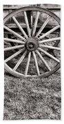 Old Wagon Wheel On Cart Bath Towel