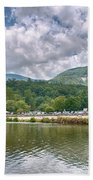 Overlooking Chimney Rock And Lake Lure Bath Towel