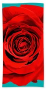 Painting Of Single Rose Bath Towel