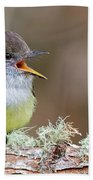Pale-edged Flycatcher Bath Towel