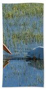 Pelicans In Hayden Valley Bath Towel