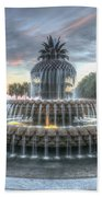 Majestic Sunset In Waterfront Park Bath Towel