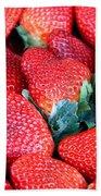 Plant City Strawberries Bath Towel
