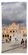Plaza De Espana Pavilion In Seville Hand Towel