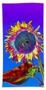 Psychedelic Sunflower Bath Towel