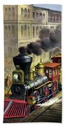 Railroad, 1874 Bath Towel
