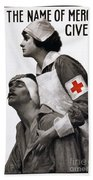Red Cross Poster, 1917 Bath Towel