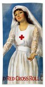 Red Cross Poster, 1918 Bath Towel