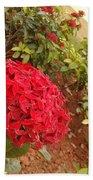 Red Flower Bath Towel