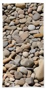 River Rocks Pebbles Bath Towel