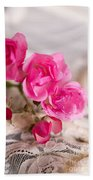 Roses And Lace Bath Towel