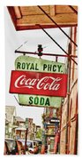 Royal Pharmacy Soda Sign Bath Towel