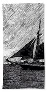 Sailing At Sunset Bath Towel