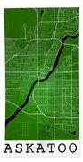 Saskatoon Street Map - Saskatoon Canada Road Map Art On Colored  Bath Towel