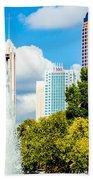 Skyline Of A Modern City - Charlotte North Carolina Usa Bath Towel