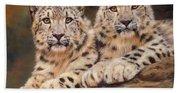 Snow Leopards Bath Towel