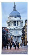 St. Paul's Cathedral London At Dusk Hand Towel