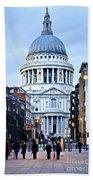 St. Paul's Cathedral London At Dusk Bath Towel
