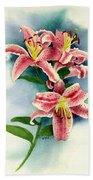 Stargazer Lilies Bath Towel