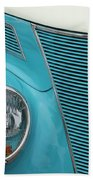 Street Car  Blue Grill With Headlight Bath Towel
