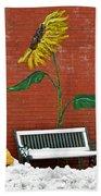 Sunflower And Snow Bath Towel