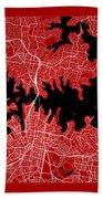 Sydney Street Map - Sydney Australia Road Map Art On Color Bath Towel