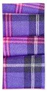 Tartan Pattern Bath Towel